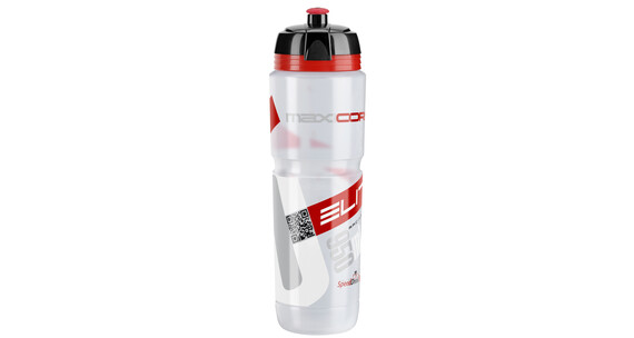 Elite Maxi Corsa MTB Trinkflasche 1000ml transparent/rot